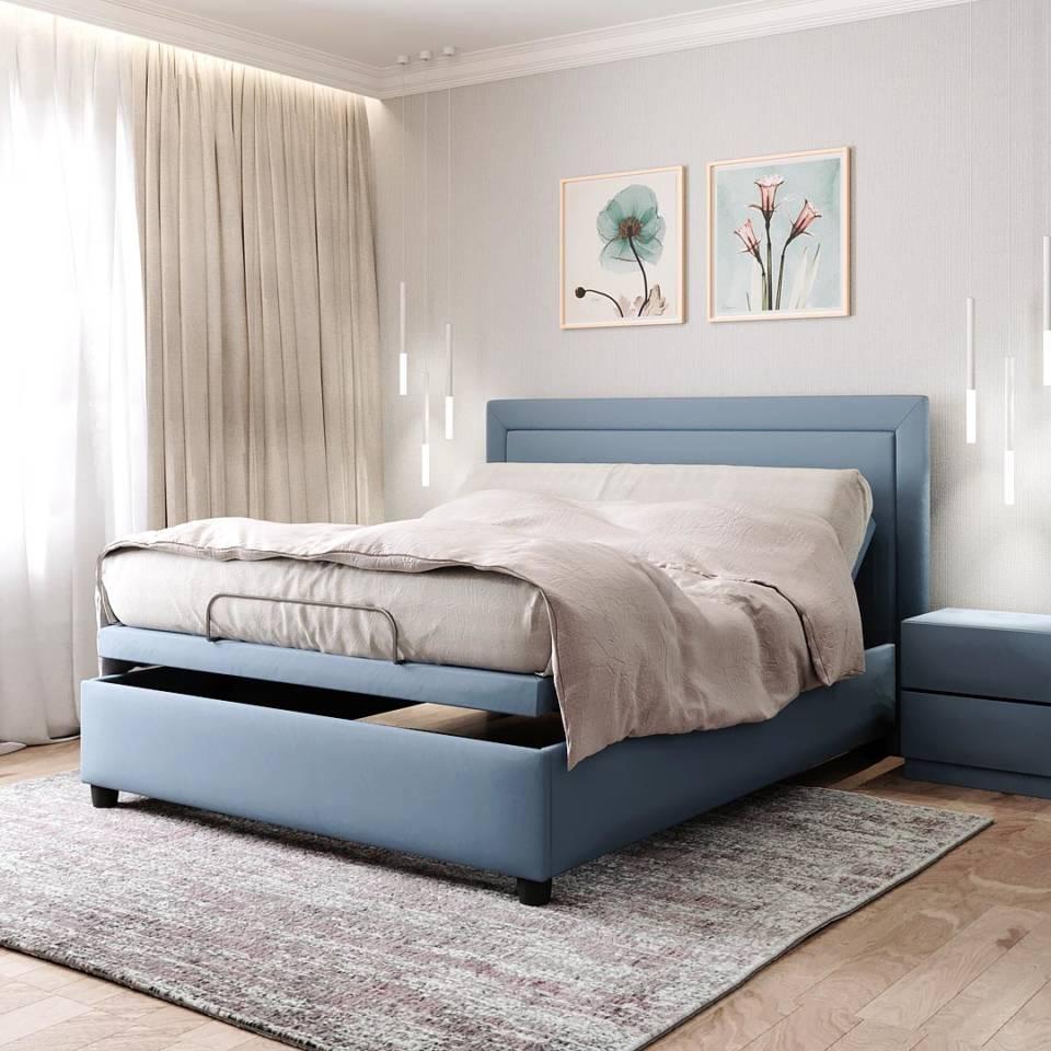 Умная кровать трансформер с электроприводом для спальни